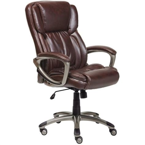 executive office chair in brown bonded leather 43520