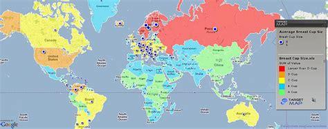 Izveidota pasaules sieviešu krūšu karte. - Spoki