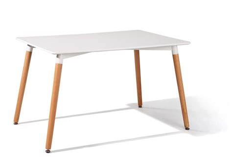 Esstisch Marten Tisch 120 X 80 Cm, Platte Weiß Beine Buche Massiv