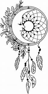 Dream Coloring Catcher Pages Mandala Dreamcatcher Drawing Moon Adult Colouring Feathers Etsy Books sketch template