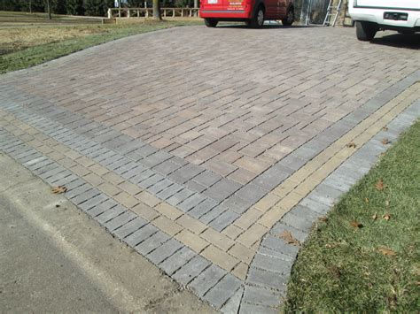 driveway designs with pavers paver driveway radiant heat contractor minneapolis mn devine design hardscapes