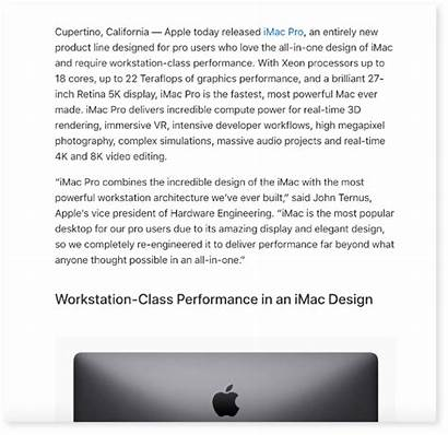 Release Press Apple Example Examples Launch Marketing