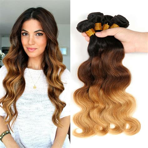 Ombre Weave Hairstyles by 4 Bundles Ombre Wave Ombre Human Hair Weave