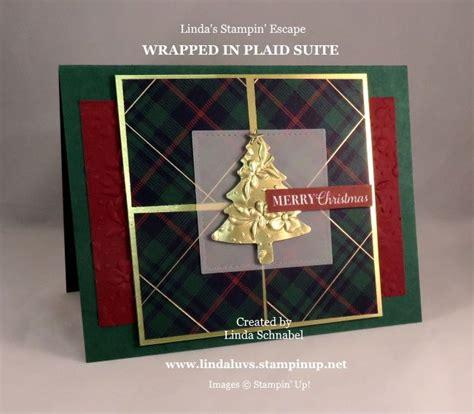 wrapped  plaid christmas card ii  images plaid