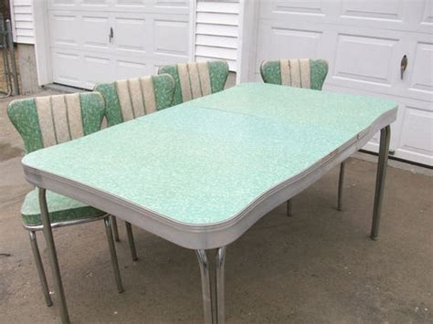retro formica chrome kitchen table  chairs