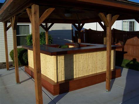 Bamboo Tiki Bar Plans by Made Bamboo Tiki Bar By Jeffrey William Construction