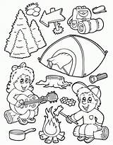 Coloring Camping Pages Smores Clipart Smore Library sketch template
