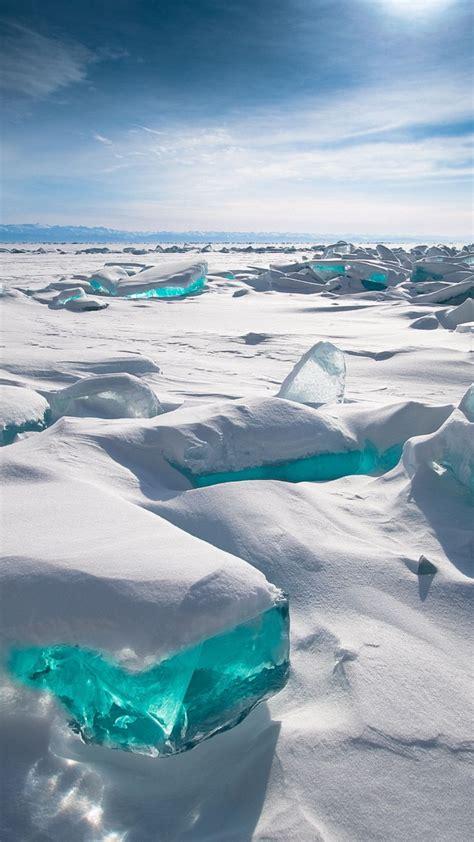 wallpaper lake baikal ice snow hd nature