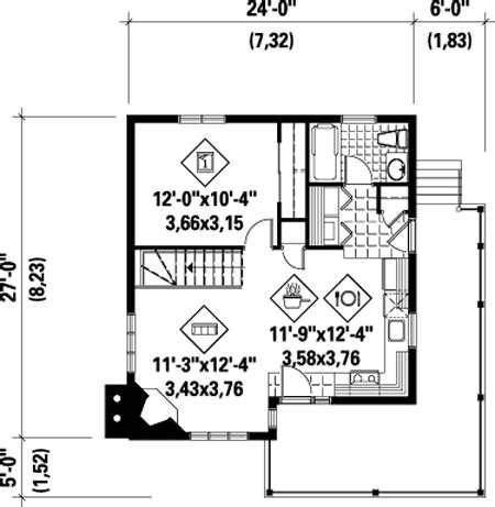 one bedroom cabin plans architectural designs 16553 | 80555PM f1