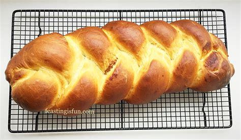 Cinnamon Plaited Brioche Bread - Feasting Is Fun