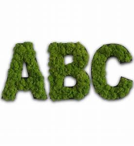Buchstaben Für Kinderzimmertür : moos buchstaben f r die wand im greenbop online shop kaufen ~ Orissabook.com Haus und Dekorationen