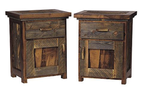 Rustic Nightstand Plans by Rustic Reclaimed Wood Furniture Sustainable Furniture