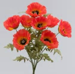 wedding centerpieces for sale orange silk poppy flower bush silk wedding flowers