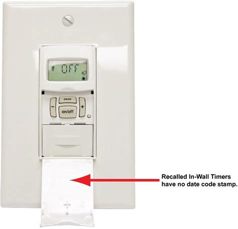 intermatic recalls in wall timers due to shock hazard