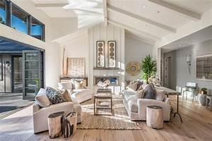 Beadboard living room living room farmhouse with wine