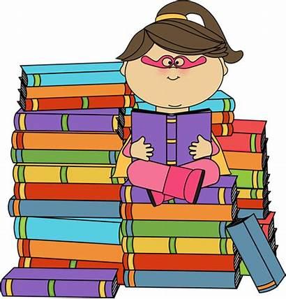 Bookworm Clipart Superhero Clip Reading Books Super
