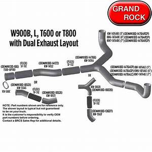 Kenworth Oem Exhaust Layouts Big Rig Chrome Shop