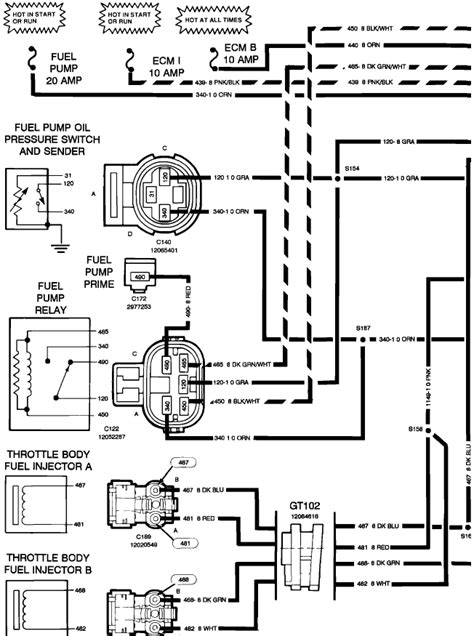93 Chevy Wiring Diagram by 93 Chevy G 20 No Power To The Fuel Relay And No