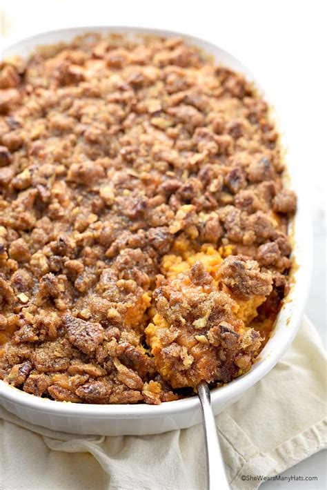 Sweet Potato Casserole Recipe With Pecan Topping She