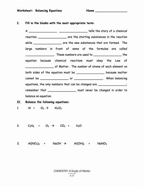 50 balancing equations worksheet answers chessmuseum