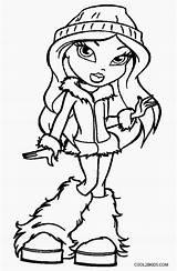 Coloring Bratz Printable Cool2bkids Drawing Getdrawings sketch template