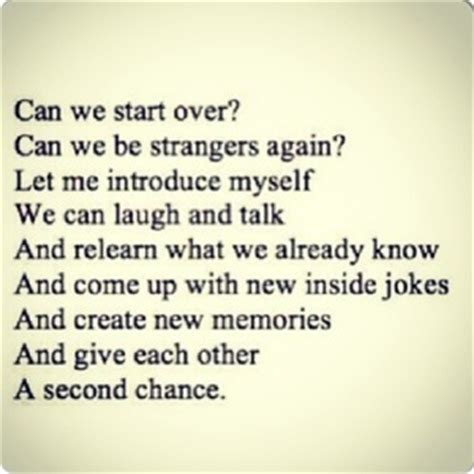 Give Me Another Chance Love Quotes