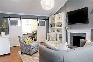 contemporary living room by found design With cool colors for living room