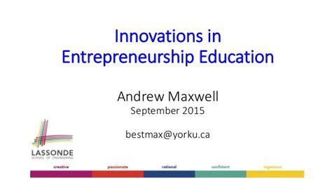 innovation  entrepreneurship education