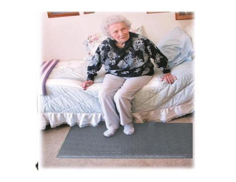 bedside floor mat with alarm lets you when they