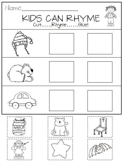 nursery rhymes lesson plans for preschool rhyming in kindergarten printables and center activities 859