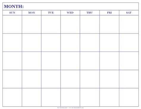blank calendar template blank calendar printable my calendar land