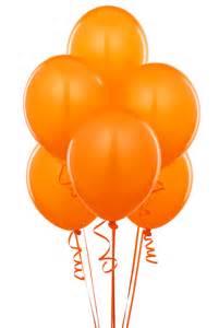 144 Orange Balloons latex  helium quality