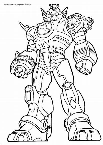 Coloring Pages Power Cartoon Rangers Character Printable