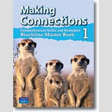 Making Connections Book 1 Blackline Master  Literacyreading  School & Office Supplies