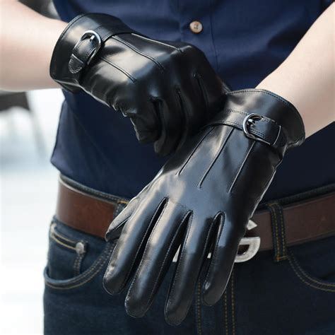 Leather Gloves Male Genuine Leather Glove Winter Thermal Sheep Leather Glove Fashional Leather
