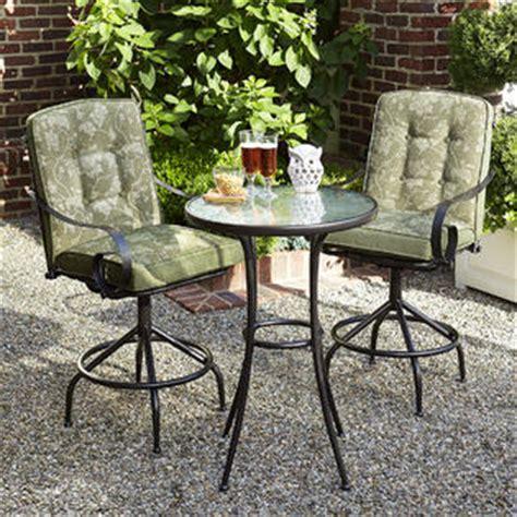 smith patio furniture cora smith cora 3pc high bistro set green outdoor