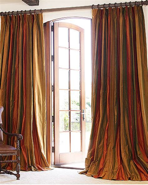 Silk Striped Drapes - dupioni silk drapes striped drapery fabric silk curtains