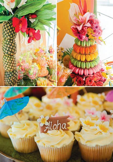 surfs  tropical hawaiian  birthday party