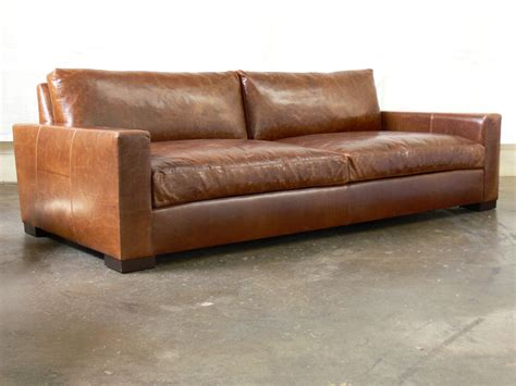 retro sectional leather 96 braxton cushion leather sofa in brompton vintage 4829