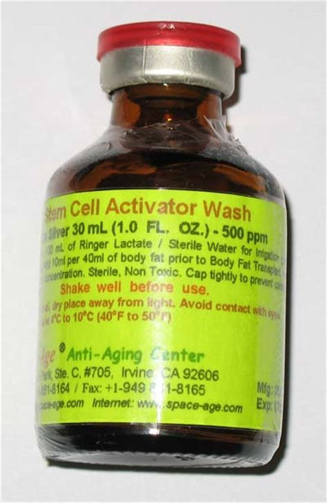 Aqua Bio Stem Cell Activator spaceage nano silver induced stem cell activation therapy