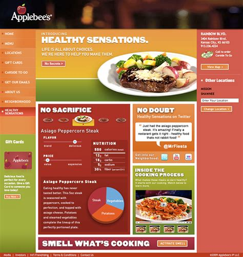 applebee s light menu applebee s healthy sensations menu on behance