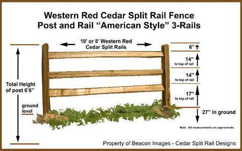standard fence height western red cedar split rail fence 3 rail installation diy projects pinterest split rail