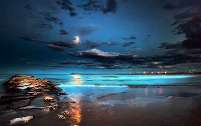 Night Beach Wallpapers Widescreen