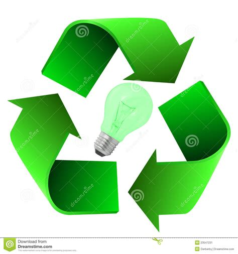 recycle eco bulb stock image image 23547231