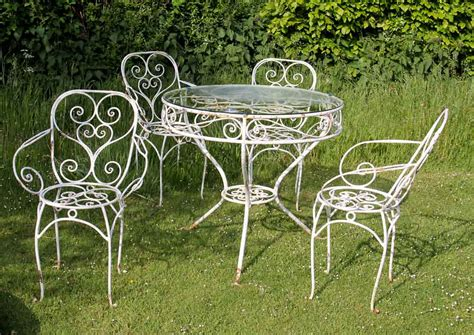 wrought iron garden furniture beautiful and durable