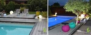 Eclairage Piscine Bois : eclairage de piscine exterieur eclairage piscine ~ Edinachiropracticcenter.com Idées de Décoration