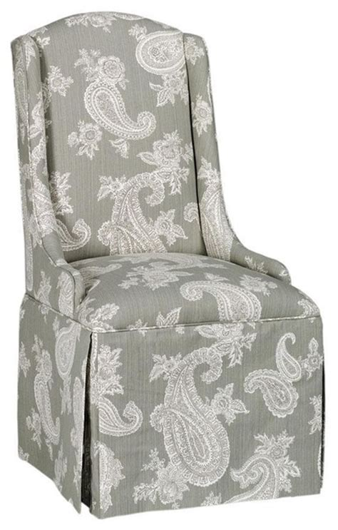 Skirted Parsons Chairs With Arms by Wing Back Parsons Chair With Skirt Chelsea Silver