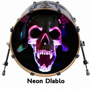custom 22quot bass drum head decals skin wrap kick sticker With bass drum lettering