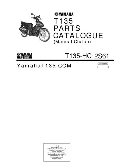 yamaha t135 hc manual parts catalogue
