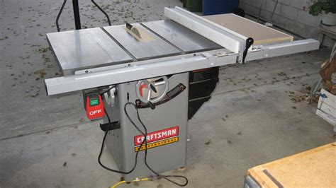 review craftsman  premium hybrid tablesaw  dnick